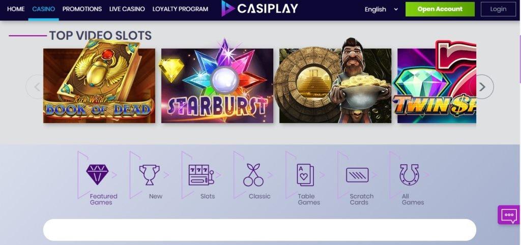 Обзор онлайн казино Casiplay Casino