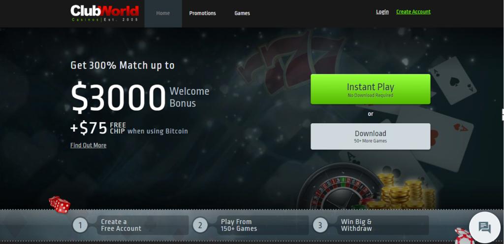 Обзор онлайн казино Club World Casinos